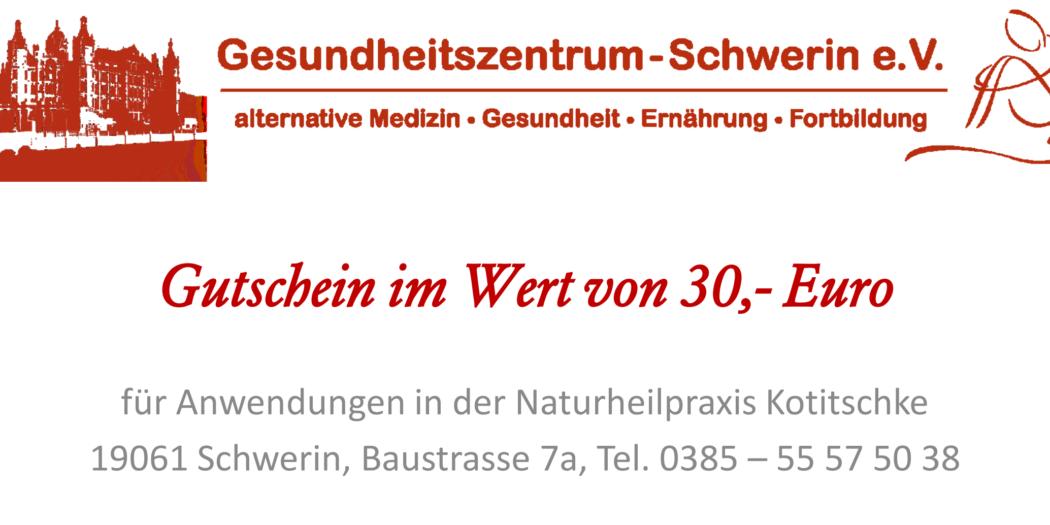 Gutscheine kaufen - Gesundheitszentrum Schwerin - Heilpraktiker